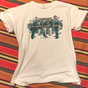 v t g | LADIES | '99 white Backstreet Boys T-shirt